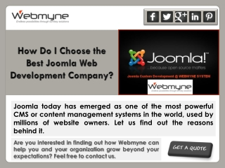 How Do I Choose the Best Joomla Web Development Company?