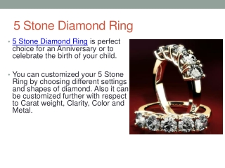 Different Types of 5 Stone Diamonds Ring