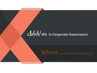 Careers in Corporate Governance