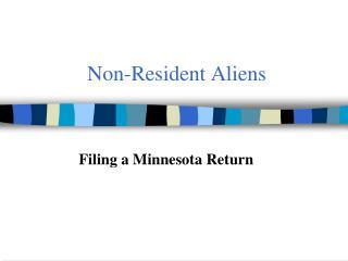 Non-Resident Aliens