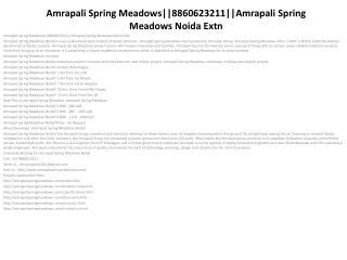 amrapali spring meadows||8860623211||amrapali spring meadows