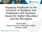 Engaging Employers in the Inclusion of Students and Employees ...