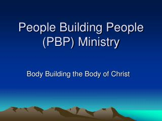 People Building People PBP Ministry