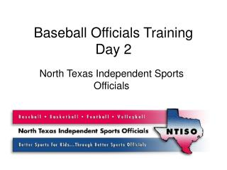 Baseball Officials Training Day 2