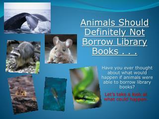 Animals Should Definitely Not Borrow Library Books