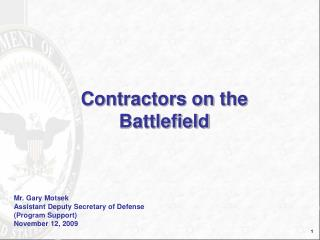 Contractor on the Battlefield