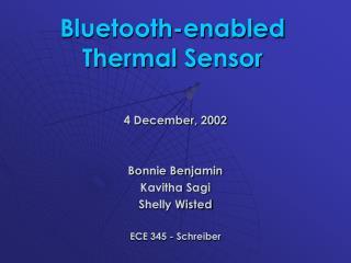 Bluetooth-enabled Thermal Sensor