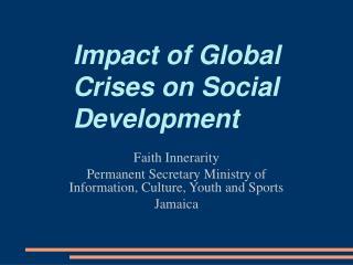 Impact of Global Crises on Social Development