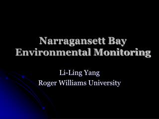 Narragansett Bay Environmental Monitoring
