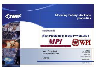 Modeling battery electrode properties