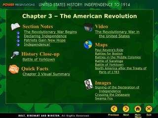 Ch. 3 PowerPoint Notes