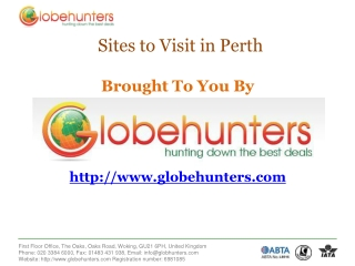 cheap flights to Perth with Globehunters