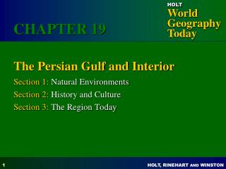The Persian Gulf and Interior
