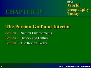 The Persian Gulf and Interior