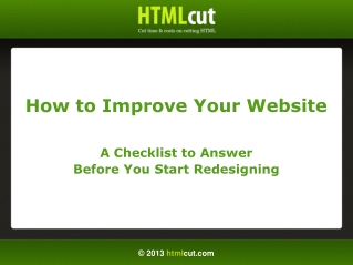 The Website Redesign Checklist