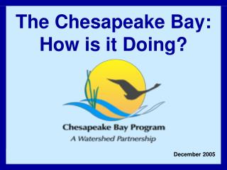 The Chesapeake Bay: How is it Doing