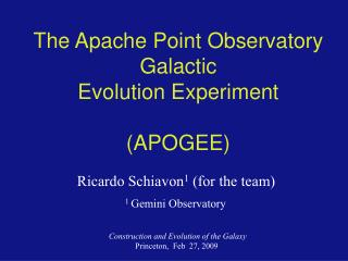 The Apache Point Observatory Galactic Evolution Experiment ...
