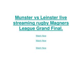 munster vs leinster live streaming rugby magners league gran
