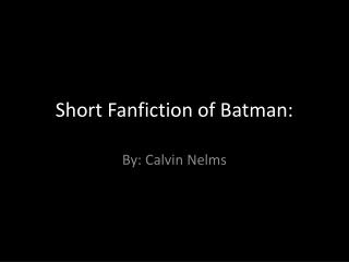 DARIA VS BATMAN FANFICTION