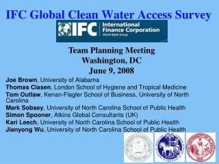 IFC Global Clean Water Access Survey