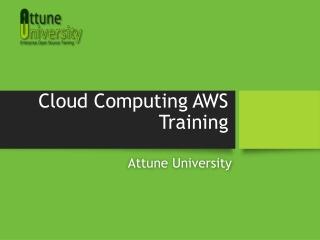 Cloud Computing AWS Training