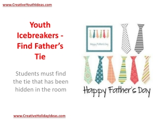 Youth Icebreakers - Find Father's Tie