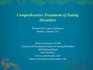 comprehensive treatment of eating disorders