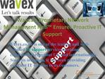 Wavex's proprietary network management NETi ensures proactiv