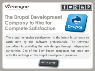 The Drupal Development Company to Hire for Complete Satisfac
