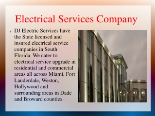 Electrical Services Company