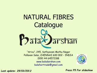 NATURAL FIBRES Catalogue