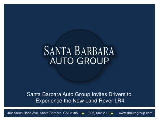 Santa Barbara Auto Group Invites Drivers to Experience the N