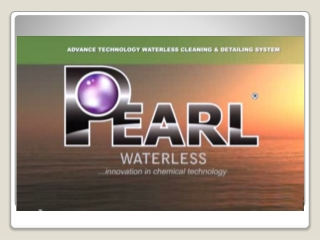 Pearl Waterless is the Top Waterless Detailing Solution