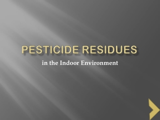 Test: Pesticides