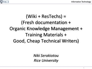 Wiki  ResTechs  Fresh documentation  Organic Knowledge ...
