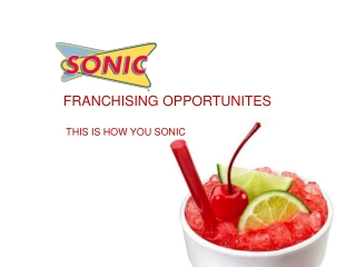Sonic Drive-In New Franchisee Presentation FEB2013
