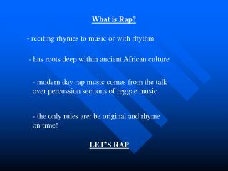 What is Rap
