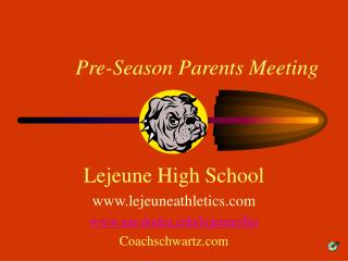 Pre-Season Parents Meeting