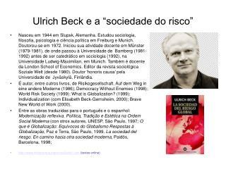 Ulrich Beck e a