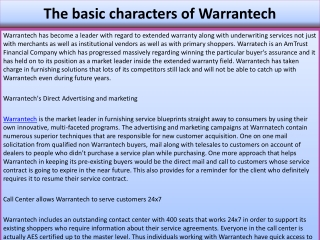The basic characters of Warrantech