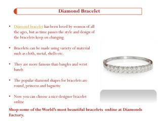 Types of Diamond Bracelet