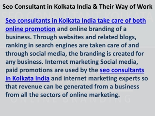 Seo Consultant Kolkata India Kauhsik Basu