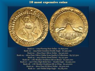 10 most expensive coins