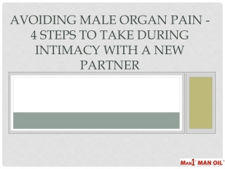Avoiding Male Organ Pain