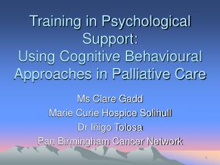 Training in Psychological Support: Using Cognitive Behavioural ...