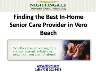 Elder Care in Vero Beach Services