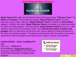spaze tower gurgaon | spaze commercial tower | spaze platinum tower gurgaon