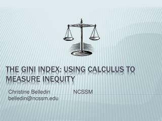 The Gini Index: Using calculus to measure inequity