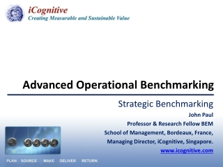 IV.2 Supply Chain Metrics and Benchmarking: