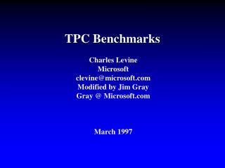 TPC Benchmarks